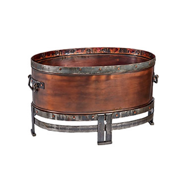 "#25026 Copperstone 40"" Oval Fire Pit"
